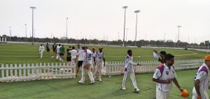 Abu Dhabi Gents Players walk off with Win at Zayed Cricket Stadium