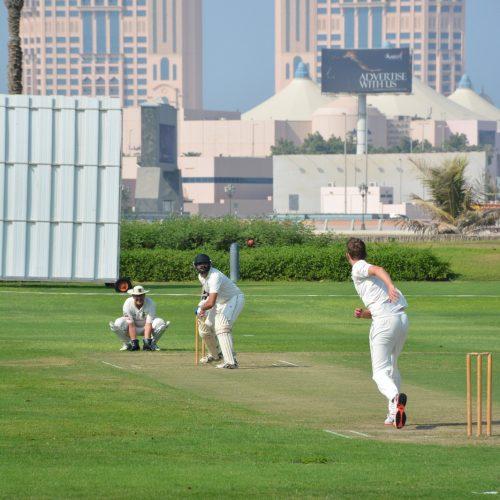 Emirates Palace Cricket action